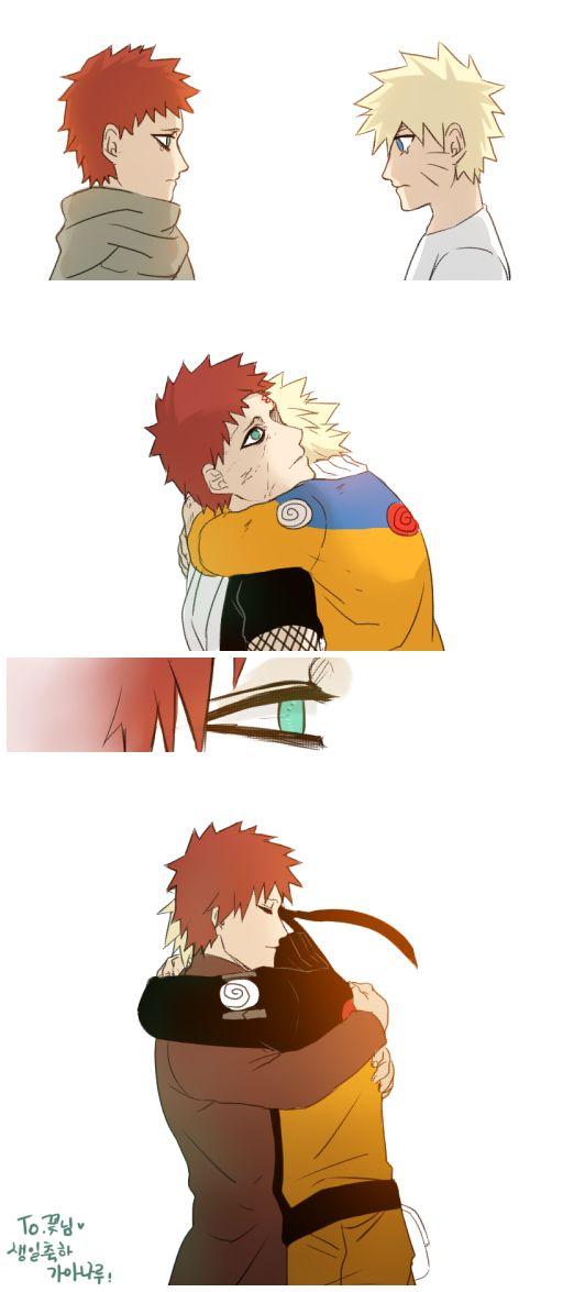 Naruto e Garra friends forever