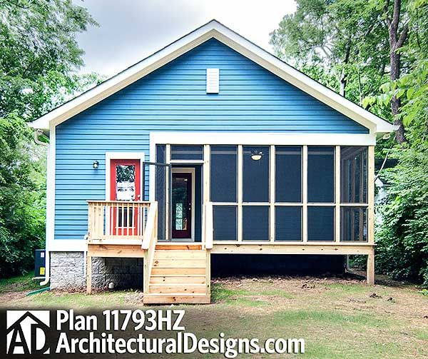Plan 11793hz 3 Bed Cottage With Porches Front And Back