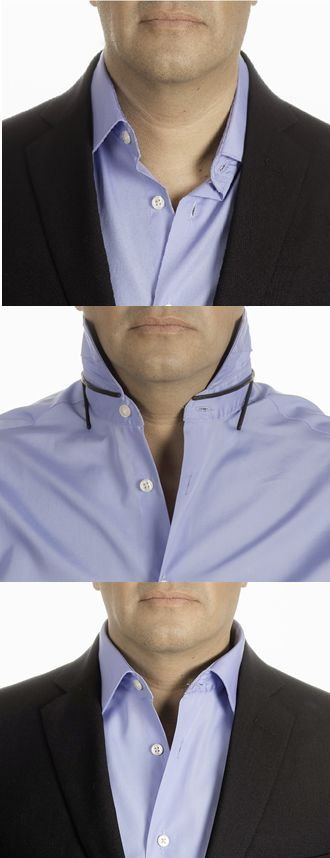Solve your collar shirt problems / 4 problems - 1 solution / 1 solution for all your collar shirt. Eliminate Sloppy collar, Open collar, Wrinkled placket shirt and Lack of collar shirt support. Works with Polo, Button down, Casual and Dress Shirt.