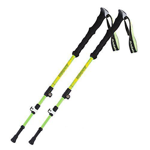 Andake Alpenstock, Retractable Carbon Fiber Trekking Pole with Comfortable Foam Handle, Ultralight & Portable Anti-Shock Walking Stick for Hiking, Walking, Camping