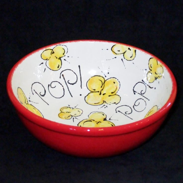 Painted pottery bowls images for Ceramic pottery painting ideas