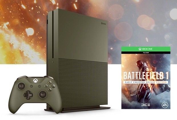 Xbox One S Battlefield 1 Special Edition Military Bundle 500gb