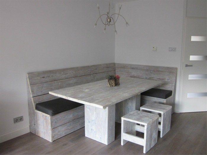 Keukenbank klusideeen pinterest eethoek keuken en eetkamer - Idee outs semi open keuken ...