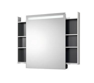 Perfect Extractable bathroom mirror shelf by emco bath