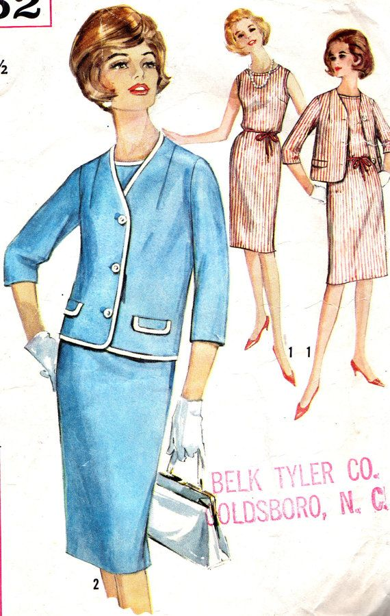 Vintage Sewing Pattern 1960s Simplicity 5352 Plus by paneenjerez, $14.00
