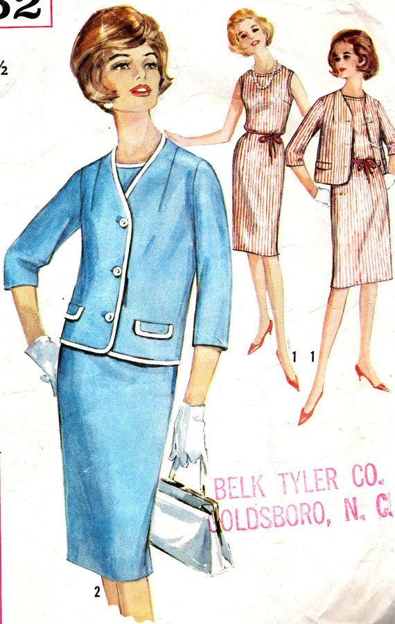 Vintage Sewing Pattern 1960s Simplicity 5352 Plus by paneenjerez, $14.00