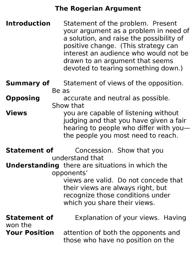 rogerian argument essay topics rogerian argument essay outline example