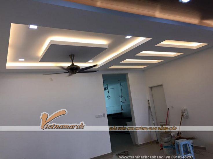 wooden false ceiling designs for living room design ideas a long narrow hoàn thiện trần thạch cao cho nhà chị tâm ở khương Đình ...