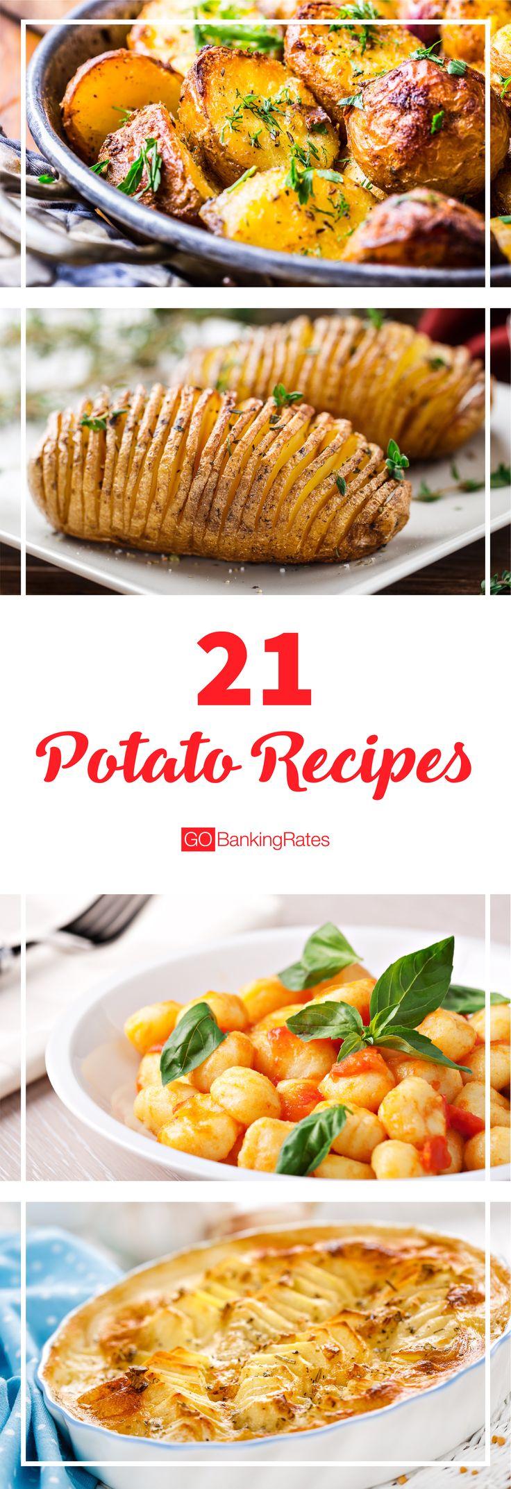 Click through to learn 21 new potato recipes....