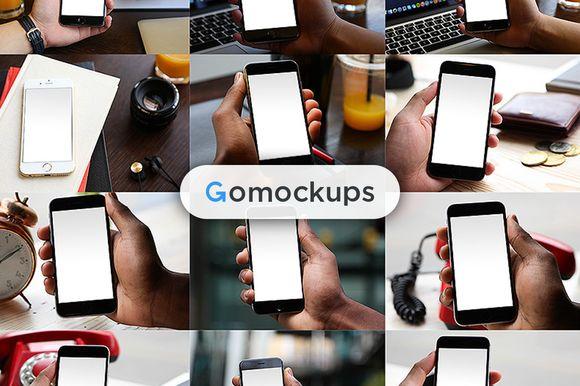 Mega HUGE - 166 of iPhone 6 mockups by Gomockups on @creativemarket