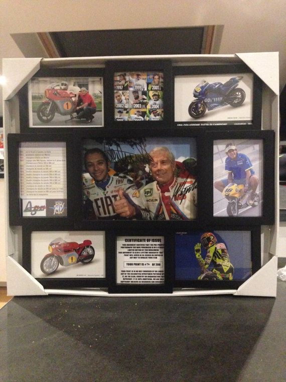 Valentino Rossi & Giacomo Agostini by Route66store on Etsy