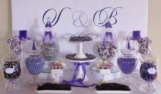 """Photo 1 of 13: Wedding """"Shelley & Blair's Wedding Candy Buffet"""" 