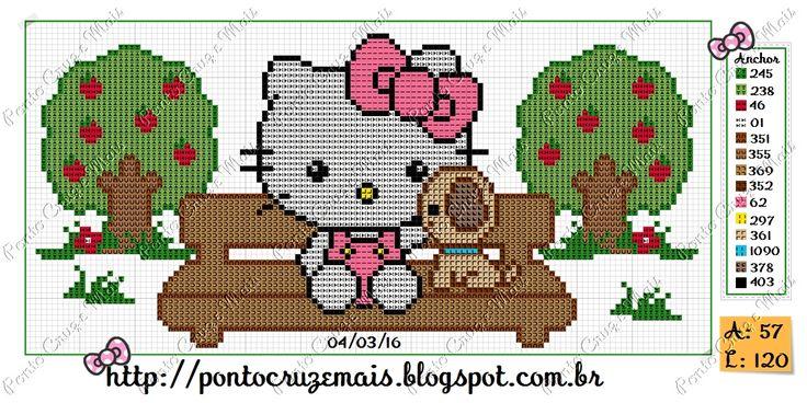 Ponto Cruz e Mais: Hello Kitty e Cãozinho!!