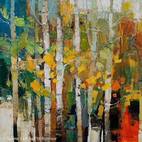 Iosif Derecichei, 'Falling Leaves', 40'' x 40''   Galerie d'art - Au P'tit Bonheur - Art Gallery
