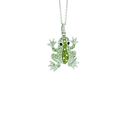 Gorgeous andrew hamilton crawford jewelry baby frog silver green