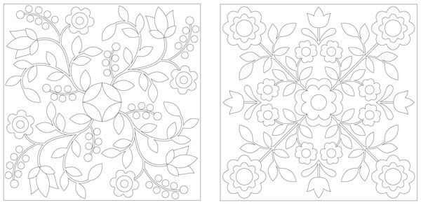 Rose of Sharon Linework Quilting