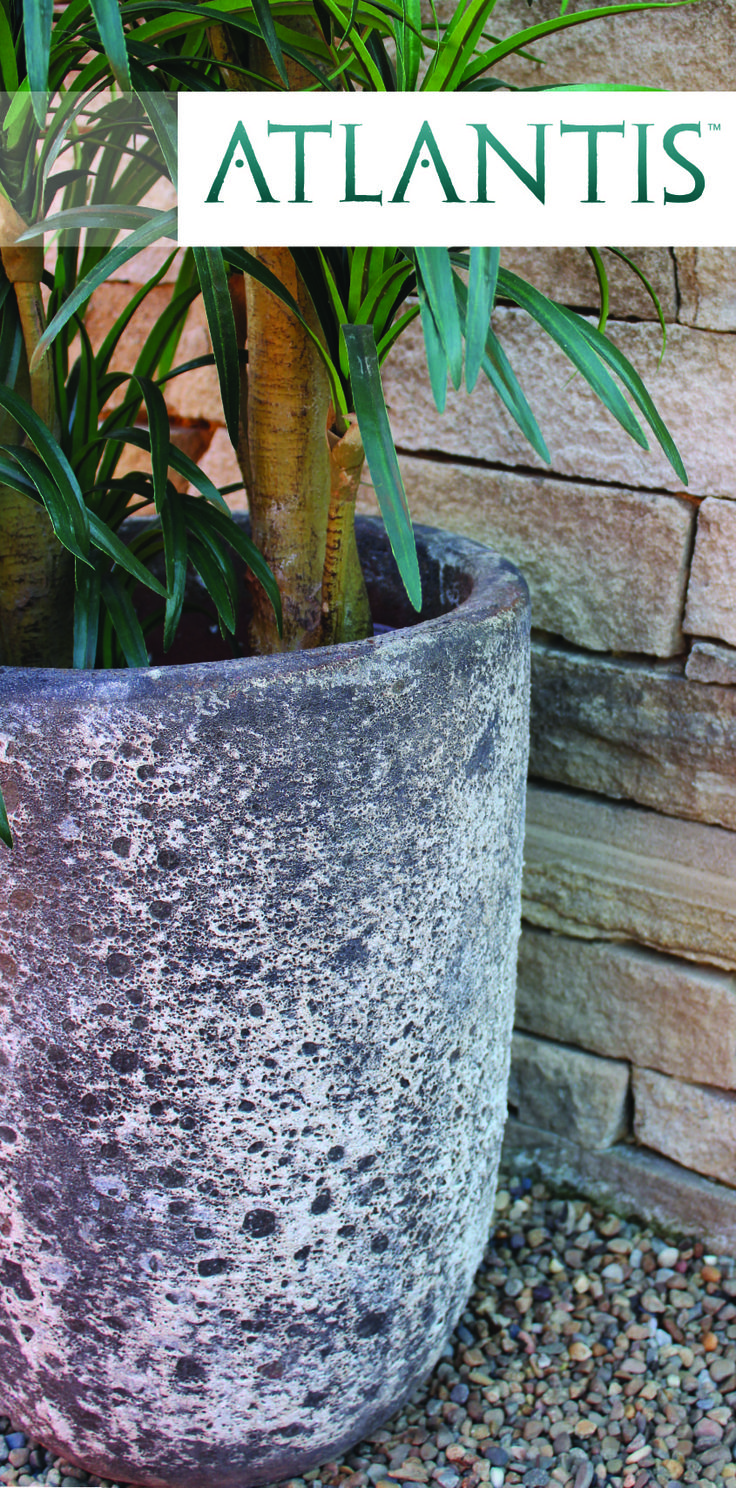 Introducing Atlantis, Northcote Pottery's new range of textured 'old world' planters, urns and fountains. Each piece is individually hand crafted, creating an intriguing and truly unique 'matured' finish reminiscent of pottery salvaged from under the ocean. Available in a great range of shapes and sizes, Atlantis pieces are perfect or adding a touch of rustic flair or vintage charm to the garden. www.northcotepottery.com/pottery/atlantis