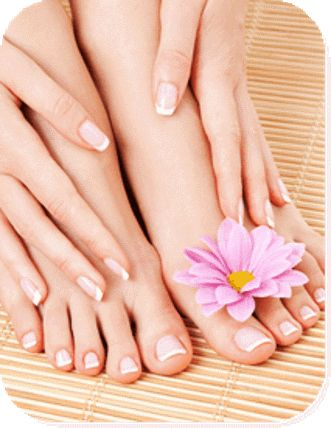 schöne Hände und schöne Füße