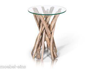 TEAK Aste Teakholz Beistelltisch Tisch Wohnzimmertisch Treibholz Holz