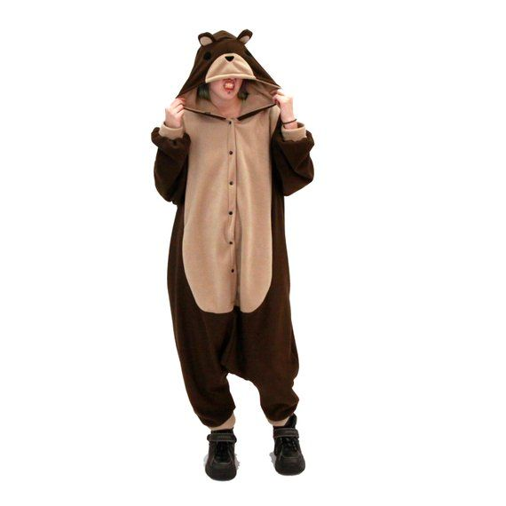 6ed992260fb5 Pawstar TEDDY BEAR KIGU - kigurumi Adult Brown Tan costume cosplay ...