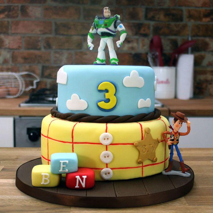 Toy Story Cake Tutorial | Buzz Lightyear & Woody Cake