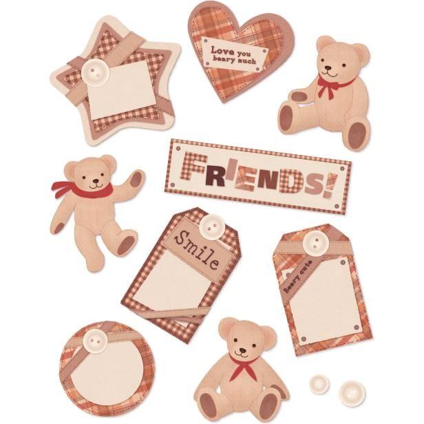 友チョコのメッセージカードに!✨☺✂➡️https://goo.gl/blNYpO いつもありがとう〜🎶 #バレンタイン #手作りチョコ #メッセージカード #タグ #ステッカー #テディベア #くま #友達