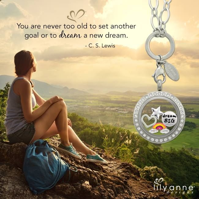 Happy Friday! You are never too old to set another goal or to dream a new dream - C.S. Lewis #LilyAnneDesigns #PersonalisedLockets #CapturingMoments #FreeToBeMe