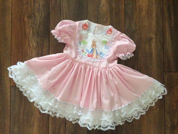 2-3 years Made To Order Handmade Peter Rabbit Skirt And Bow Set newborn