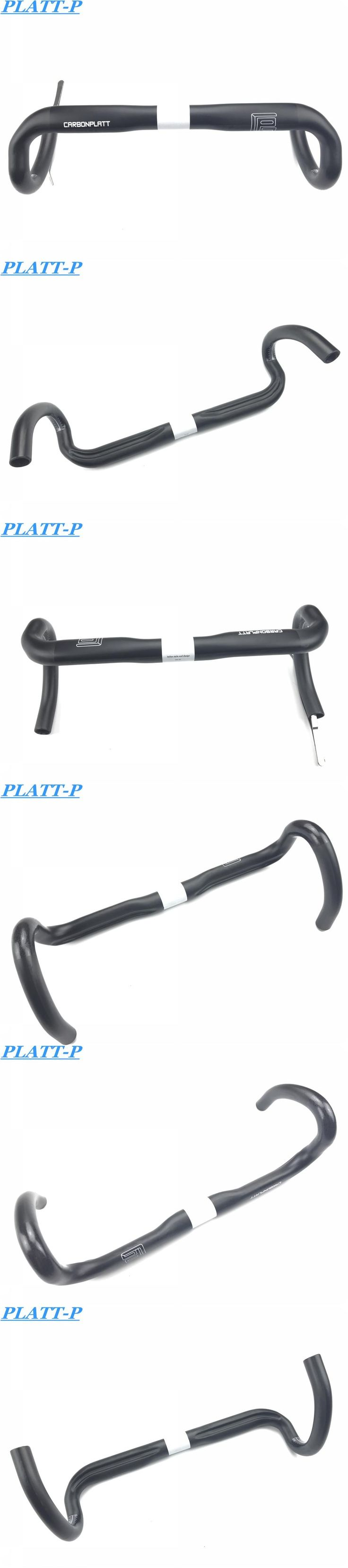 PLATT High Fiber Bar Manillar Carbono Carretera Steering Wheel UD Carbon Road Handlebar 3 Colors
