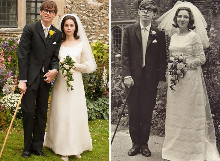 Eddie Redmayne And Felicity Jones As Stephen Hawking With His Wife Jane Wilde In The Theory Of Everything 2014‍