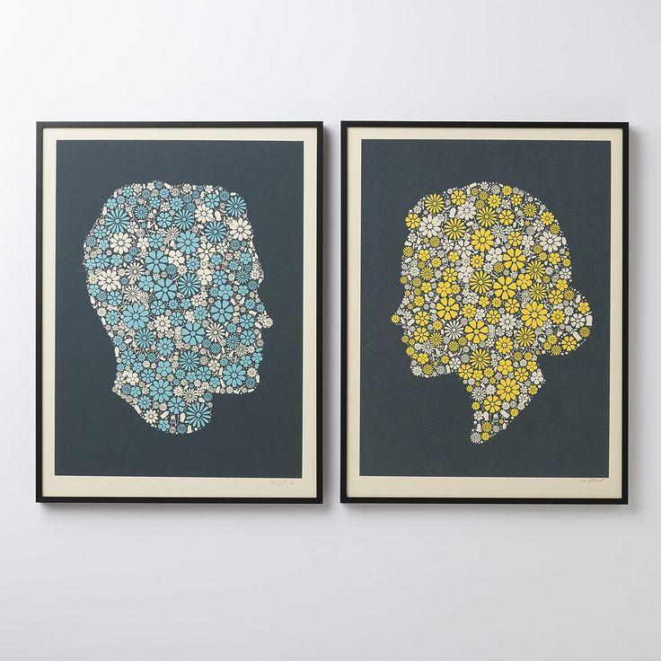 Flowering Confetti Hers Silhouette Framed Art | New