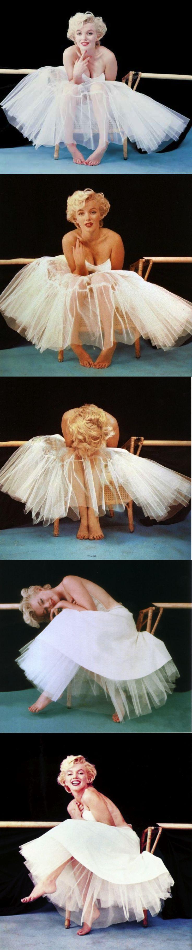 Marilyn Monroe, 1954, New York, Ballerina sitting by Milton H Greene