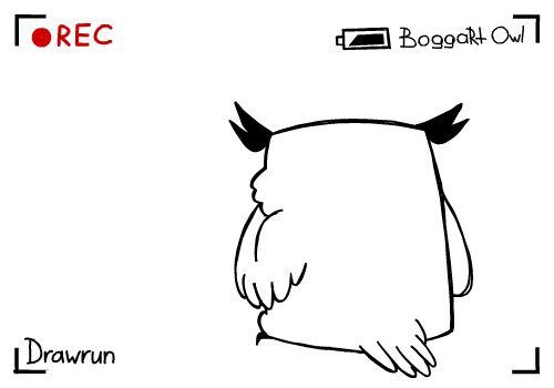 Drawrun B-day *august 22* by BoggartOwl