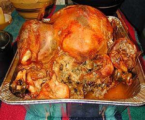 Recetas de cocina tipicas: Pavo o Pollo Relleno (estilo panameño)