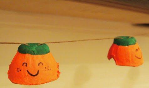 IY: Guirnalda de minicalabazas para Halloween #diy #handmade #manualidades