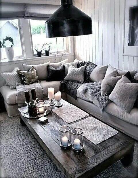 home, interior, and grey -kuva