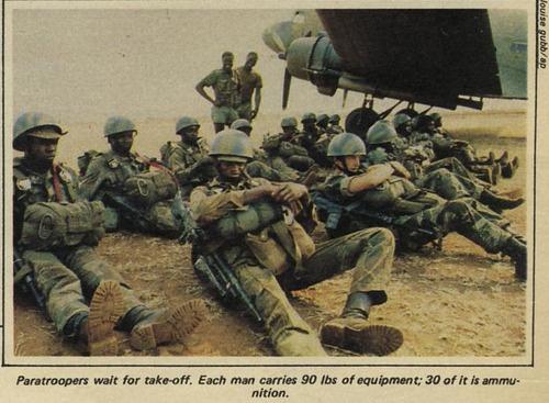 1979. Rhodesian paratroopers