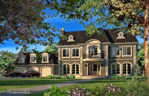 housing exteriors | Exterior Renderings | Architectural Exterior Rendering by sonya