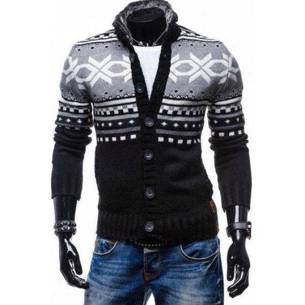 Nádherný sveter s nórskym vzorom