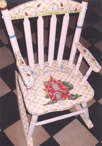 Chairs The Bedford Rocker Custom Hand Painted Children S Furniture
