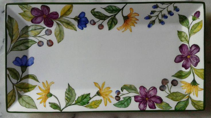 Violeta B Pintado a mano 2016