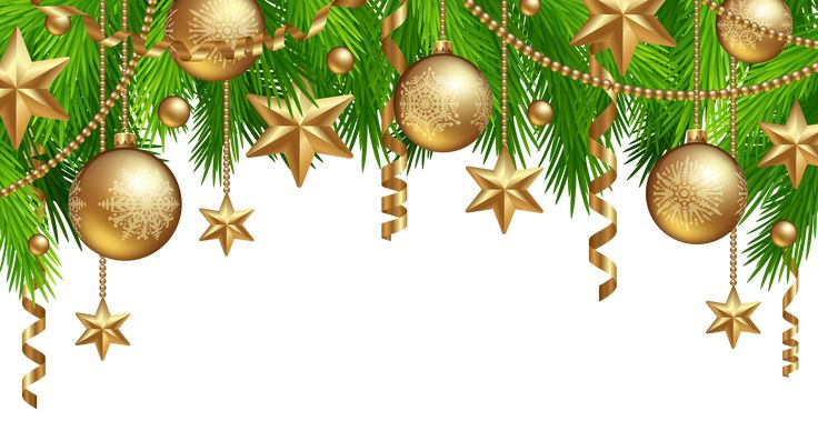 Christmas Border Decor PNG Clipart Image
