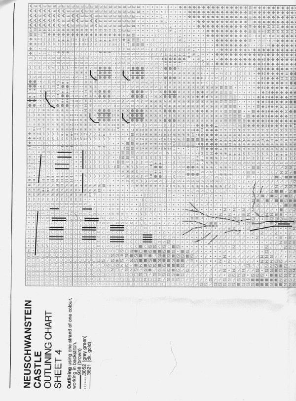 Schema punto croce Castello Neuschwanstein 04
