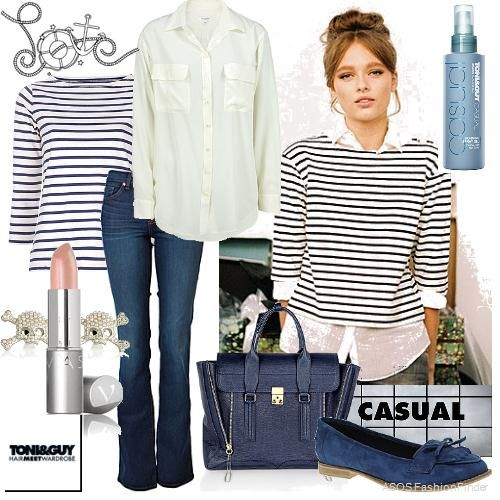Beegee Margenyte is model wearing MiH Jeans.Love the top/shirt. I have similar top I could put together; great idea!