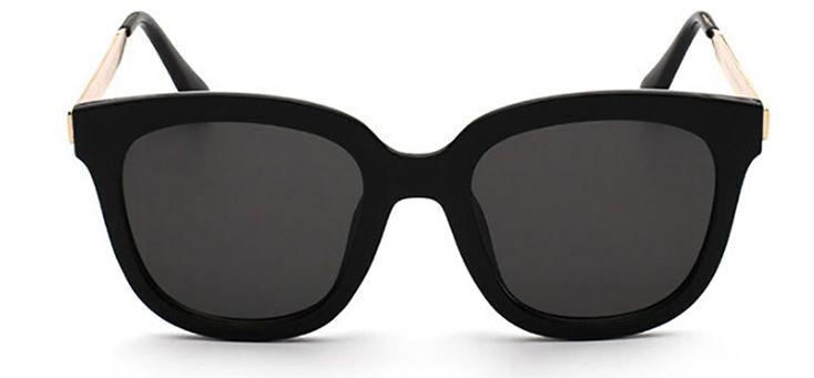 GAMT Fashion Unisex Round Arrow Style PC Sunglasses Bright black