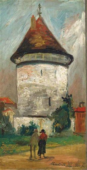 Maurice Utrillo, La tour ۩۞۩۞۩۞۩۞۩۞۩۞۩۞۩۞۩ Gaby Féerie créateur de bijoux à thèmes en modèle unique ; sa.boutique.➜ http://www.alittlemarket.com/boutique/gaby_feerie-132444.html ۩۞۩۞۩۞۩۞۩۞۩۞۩۞۩۞۩