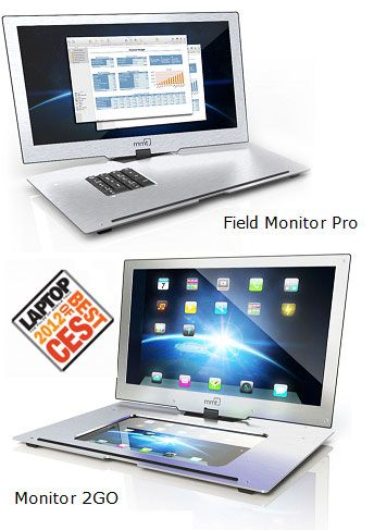 """The Monitor 2Go is the next generation mobile monitor for your iPad, laptop and other portable devices. Features include: Rotate and Pivot 180° Up, down, clockwise, counterclockwise. There's no limit to what the screen will do. Share your iPad (or any HDMI tablet) screen on our 15.6"""" LED-backlit display. Extend or mirror your screen. Daisy chain up to 6 Field Monitor Pros. Connect any phone or media player with HDMI. Stand Mode, Landscape mode, Portrait mode."""