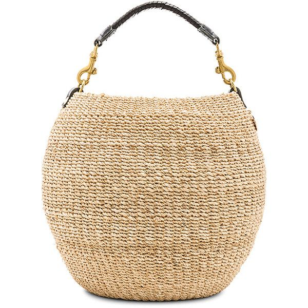 Clare V. Pot De Miel Tote ($190) ❤ liked on Polyvore featuring bags, handbags, tote bags, straw tote bags, woven tote bags, man tote bag, beige tote bag and handbags totes