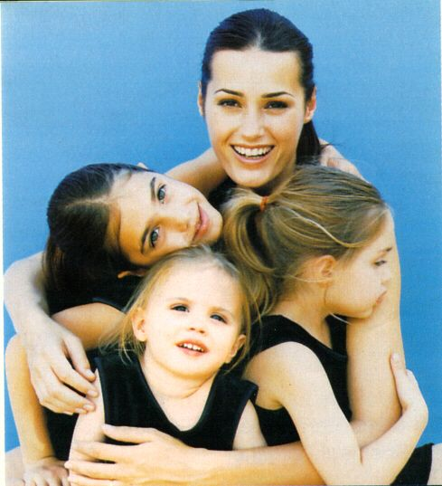 Yasmin Le Bon with daughters Amber, Saffron and Tallulah.