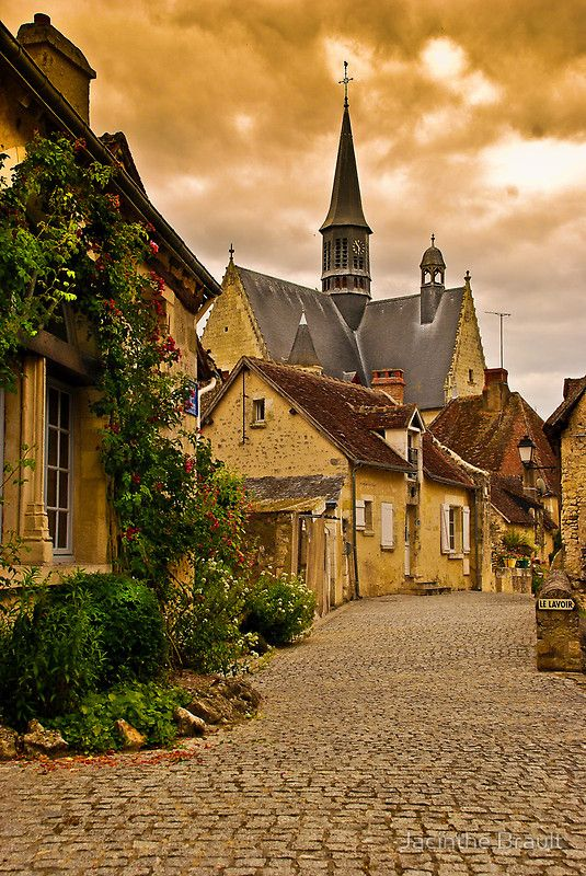 the streets of Montrésor, a small village in the Loire Valley in France. Can I move here and pretend I'm Belle?